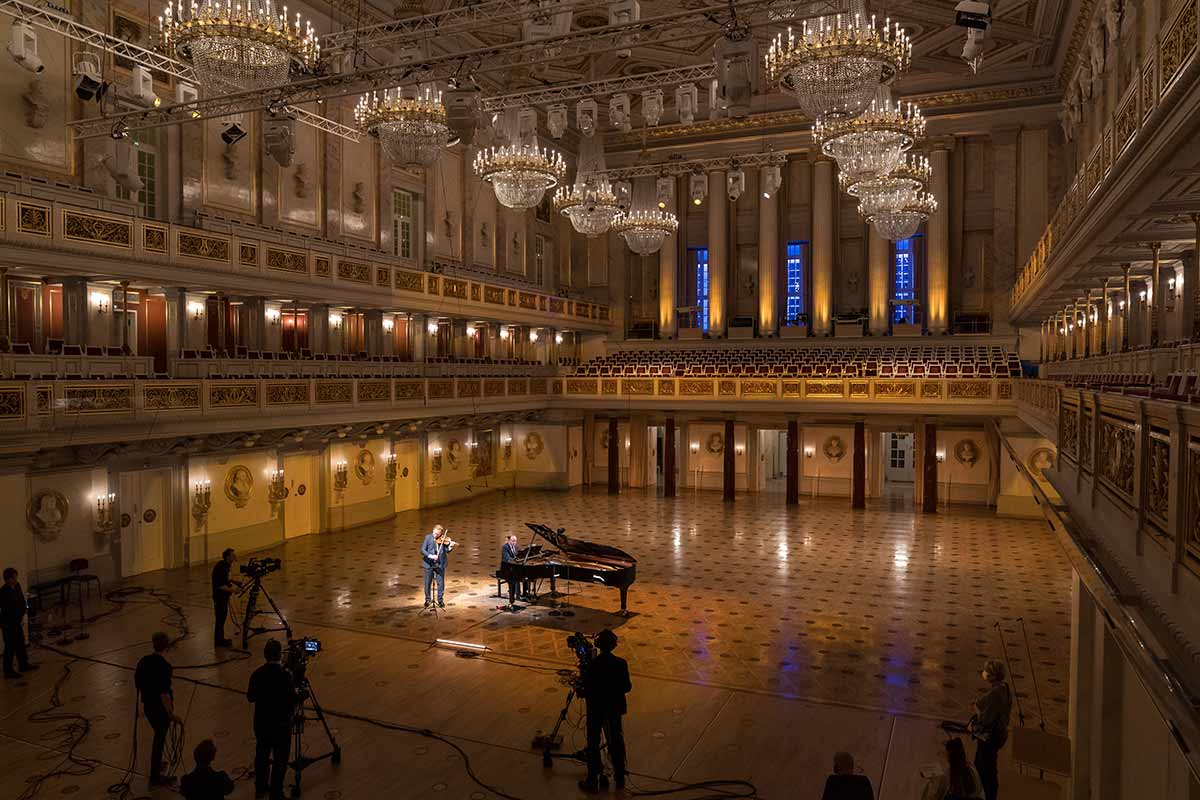 Photo of a live stream concert in the Konzerthaus Berlin
