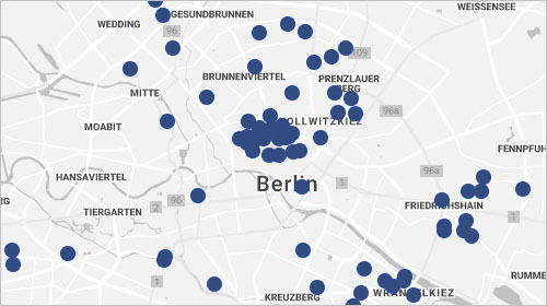 Sustainable Design Berlin Map