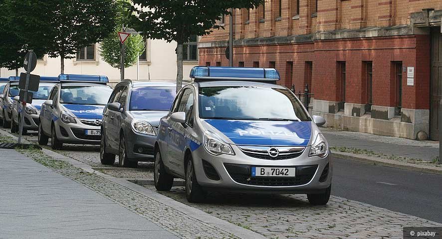Police cars in Berlin